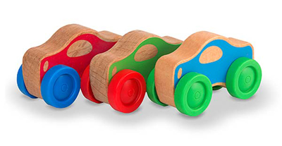 coches apilables de madera
