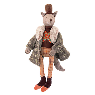 Muñeco de trapo Lobo Gentleman de Moulin Roty